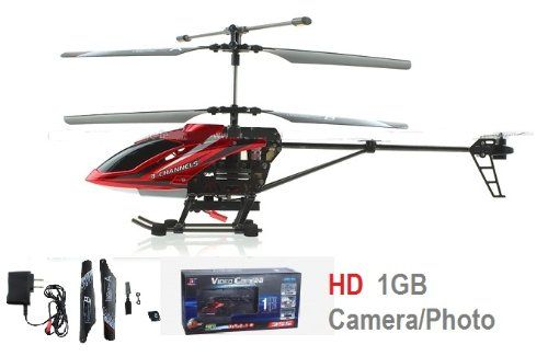 Versa 3.5 CH w/Gyro – HD Video/Photo Camera RC Helicopter w/1GB ...