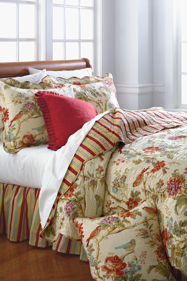 Waverly Charleston Chirp Quilt Collection Belk Com Belk Bedding
