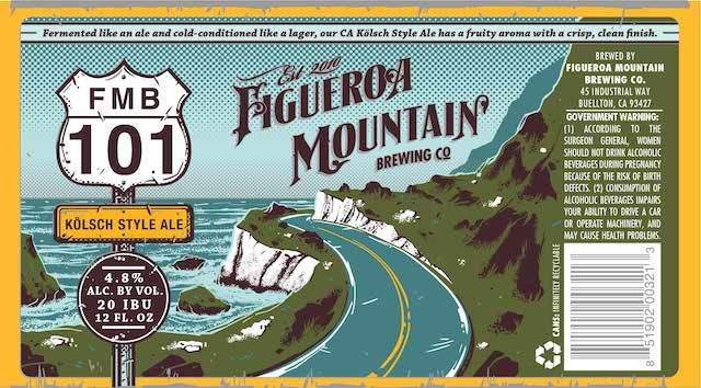"June 2014. Featuring the California coast, FMB ""101"" is a California-style Kölsch,"
