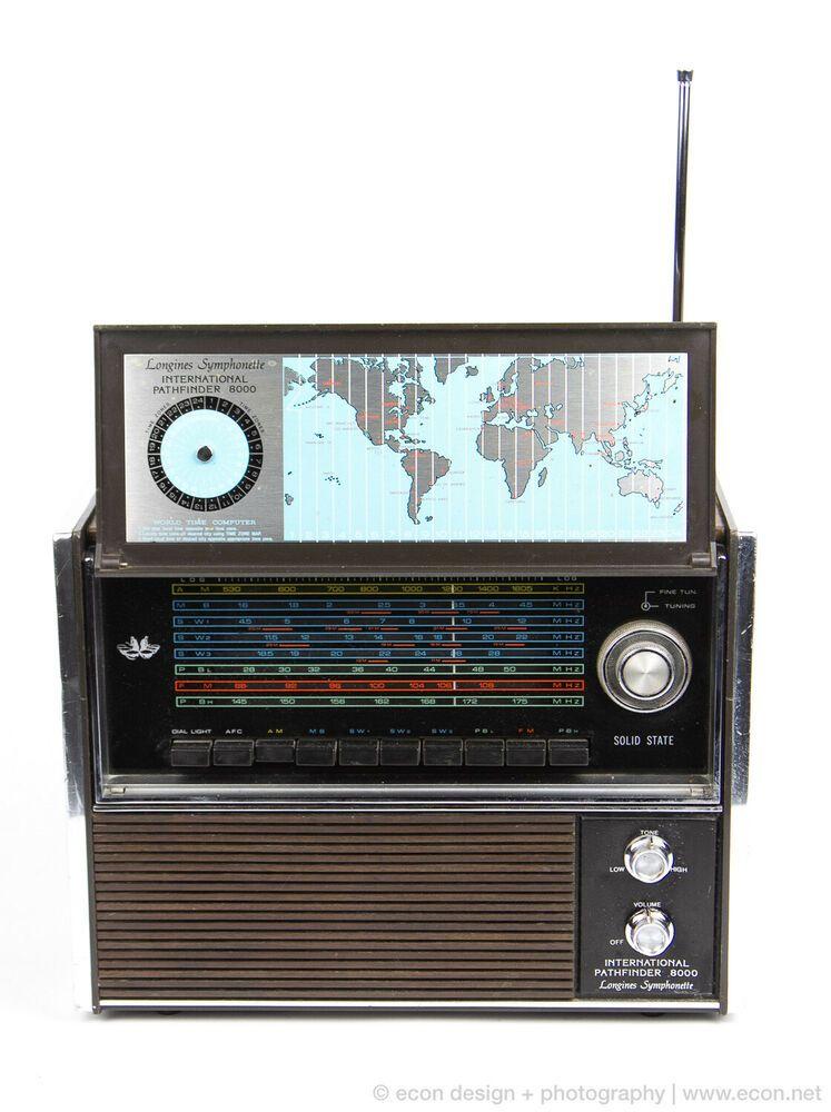 Vintage International Pathfinder 8000 Radio Solid State 8 Band Sw Midcentury Mod Afflink Contains Affiliate Links When You Cl Vintage Radio Radio World Radio