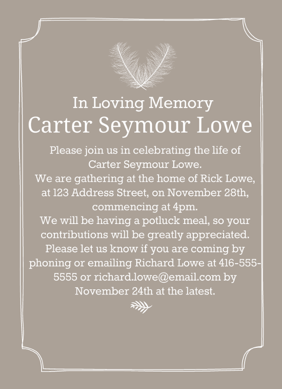 Captivating 39 Best Funeral Reception Invitations Pertaining To Invitation For Funeral