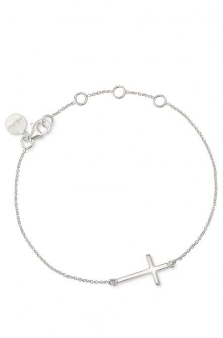 Silver Interlock Cross Bracelet By Stella Dot Photo Of Sterling