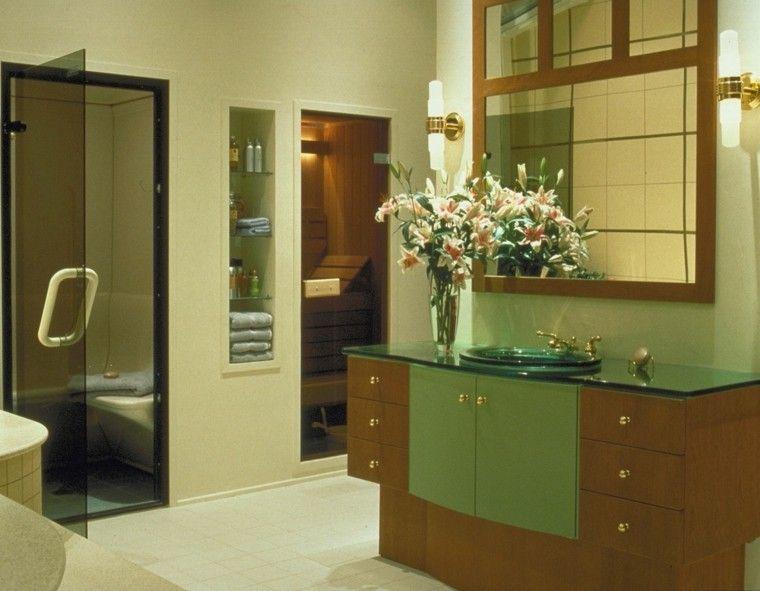 Puertas correderas de madera para el cuarto de baño en ...