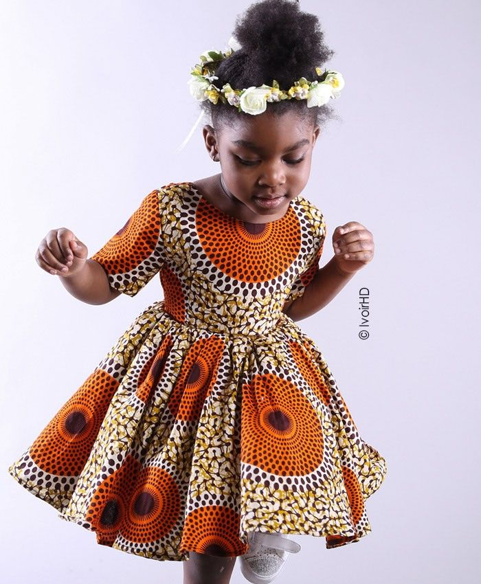mademoiselle blé 2 Robe Africaine Fille, Mode Africaine Robe, Case  Africaine, Robe En
