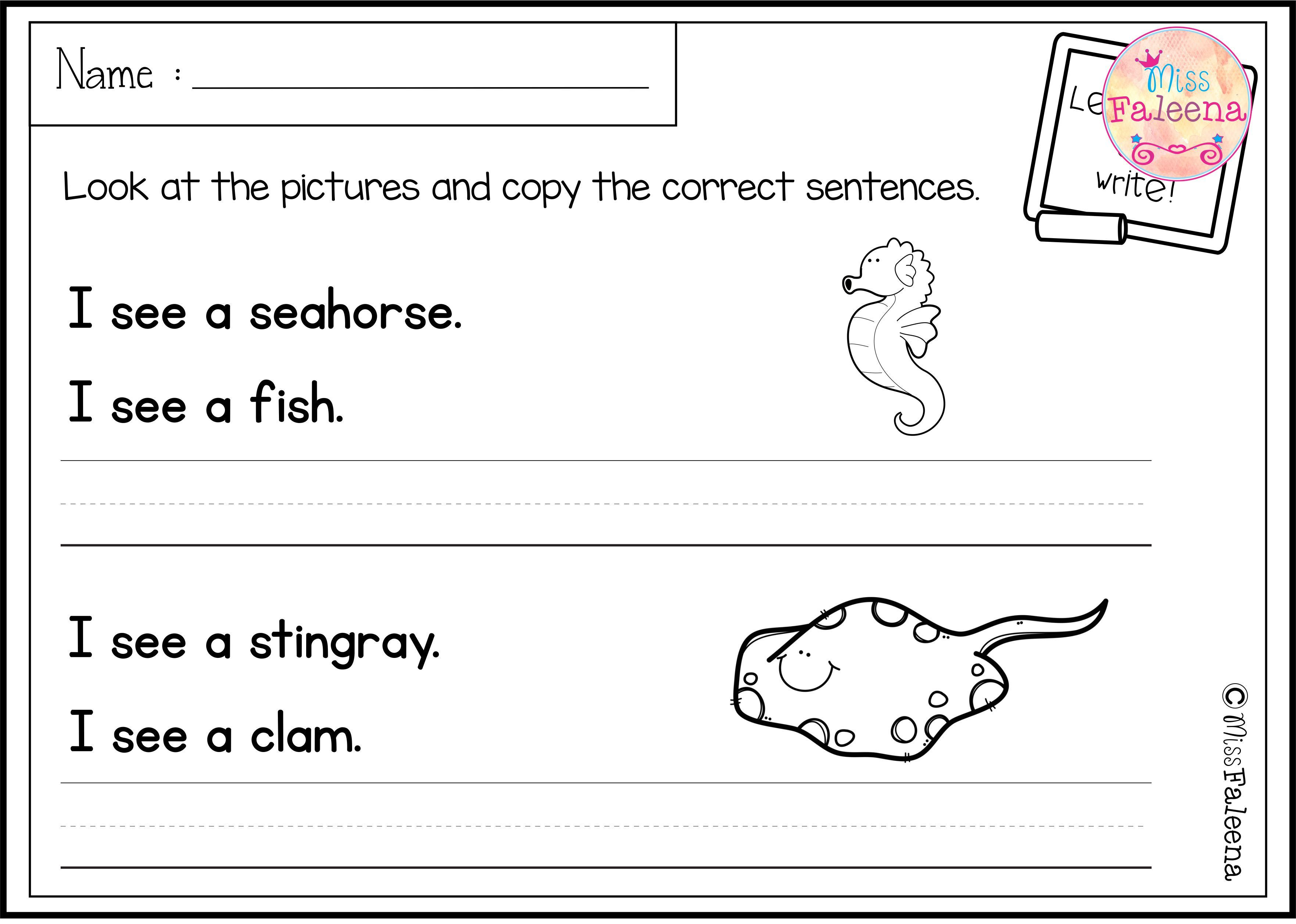 August Sentence Writing