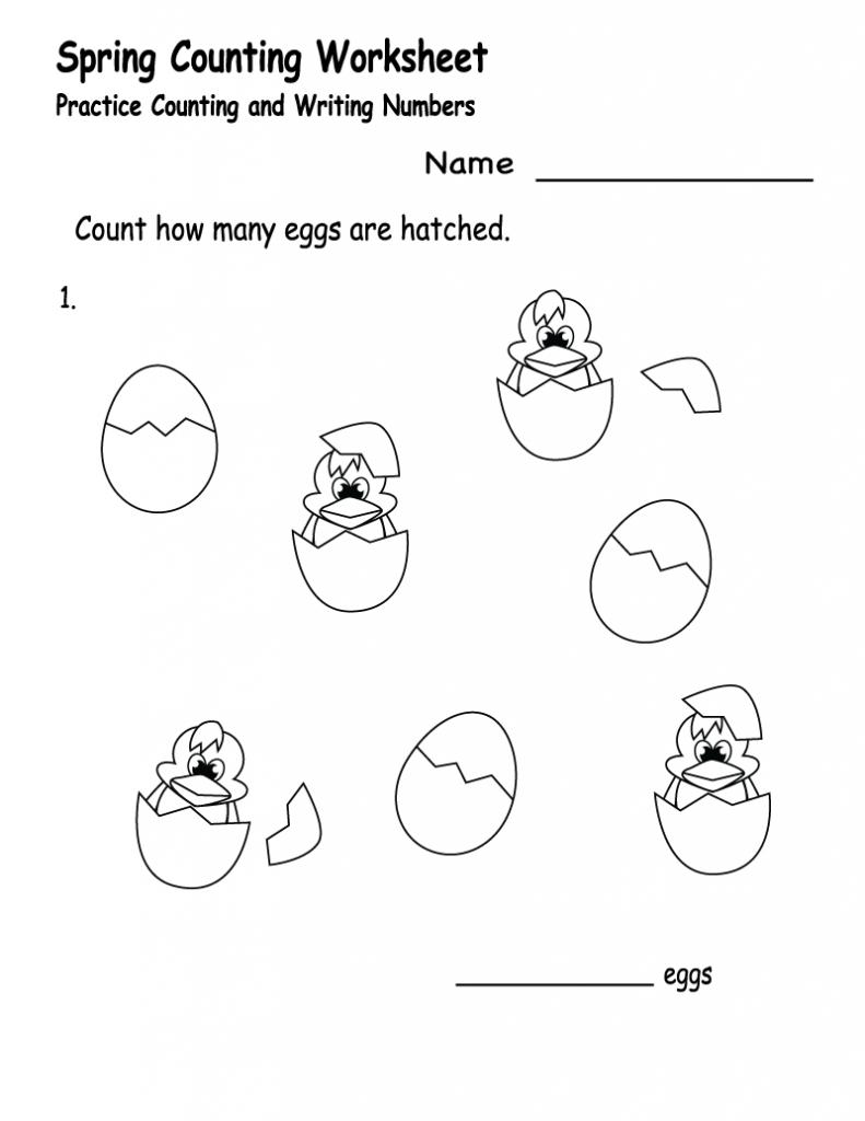 Spring Worksheets Best Coloring Pages For Kids Spring Worksheet Counting Worksheets Kindergarten Worksheets [ 1024 x 791 Pixel ]