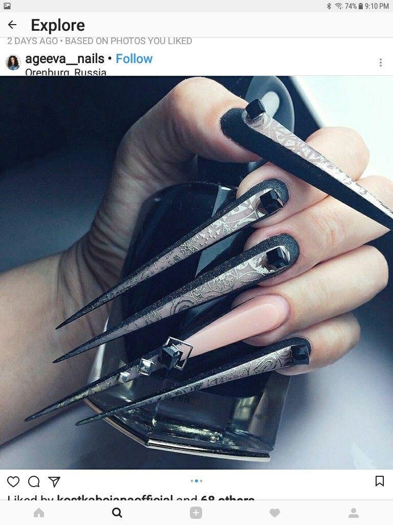 Pin by Nail Art Ideas on Long & Beautiful Nails | Pinterest | Crazy ...