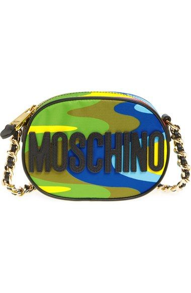 MOSCHINO Rainbow Chain Crossbody Bag. #moschino #bags #shoulder bags #lining #crossbody #