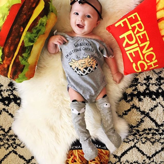 6f2d8fee8f08 cheese fries baby leotard - The Pine Torch. Funny baby onesies
