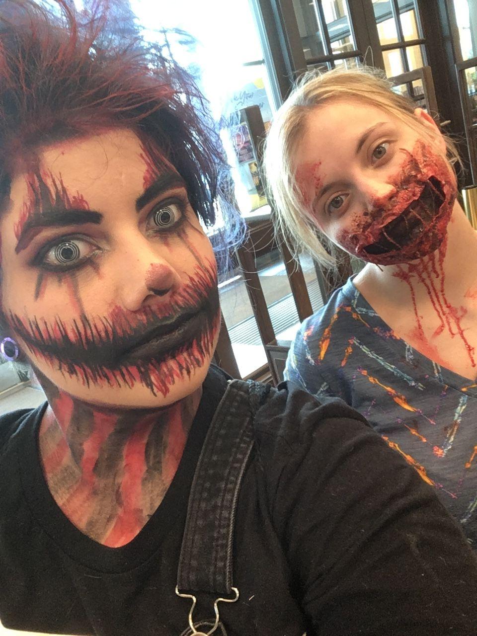 Horror makeup Horror makeup, Halloween face makeup, Face