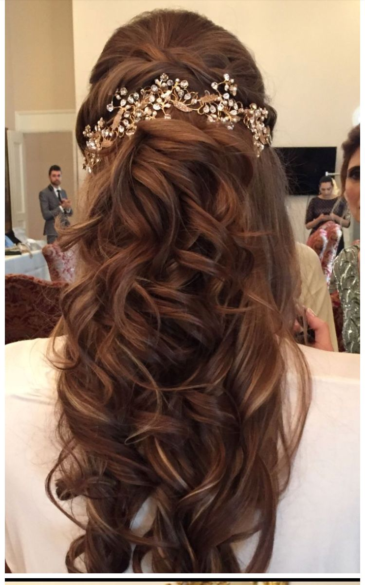 Pin By Asma On Prettification Hair Styles Long Hair Wedding Styles Engagement Hairstyles