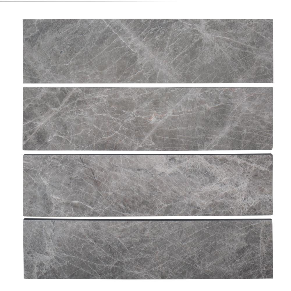 Unbranded Tundra Grey 3 In X 12 In Polished Marble Floor And Wall Tile 1 Sq Ft Pack 96006 The Home Depot In 2020 Polish Marble Floor Wall Tiles Marble Wall Tiles