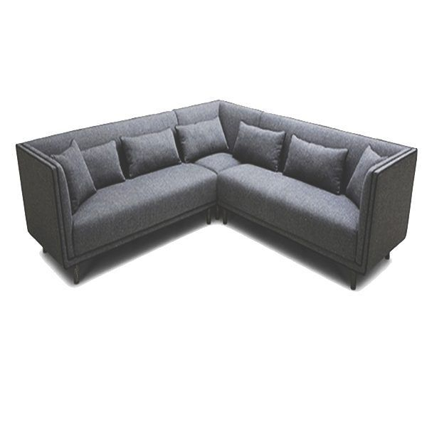 angled sectionals sofas backless uk right angle grey upholstered sectional sofa with kidney pillows horizon home furniture