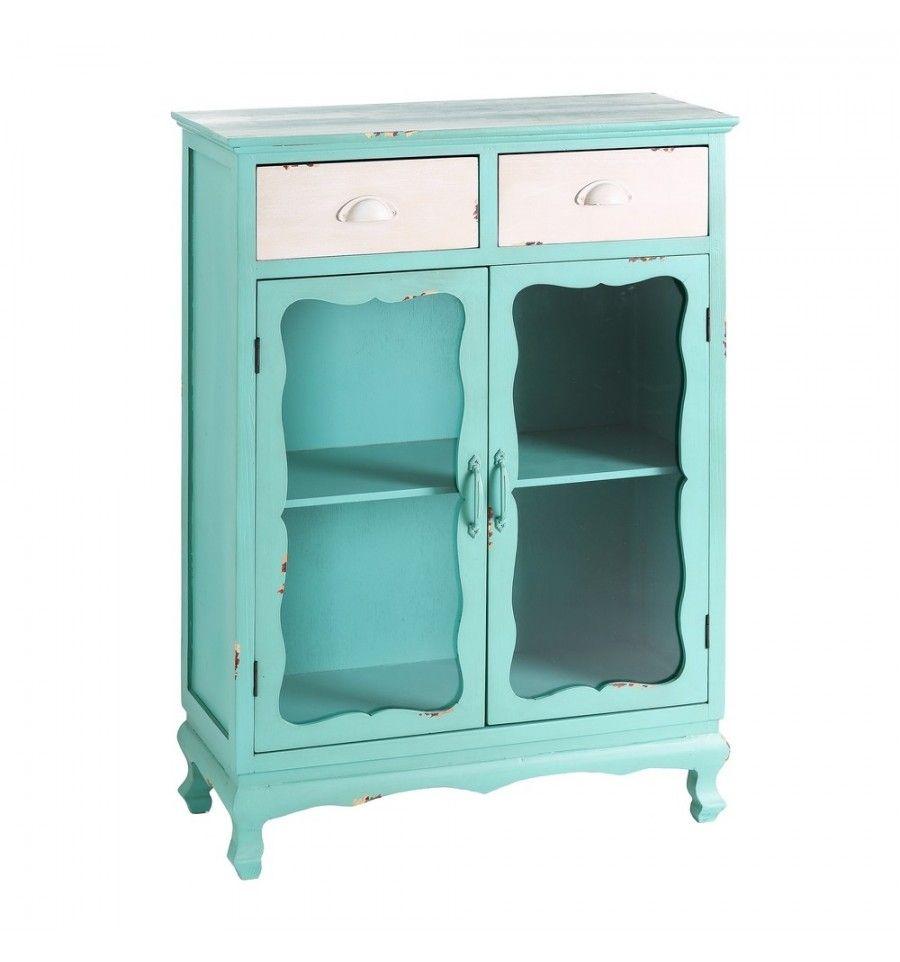 Mueble auxiliar cocina vintage agua marina | KAMIR - Decoración y ...