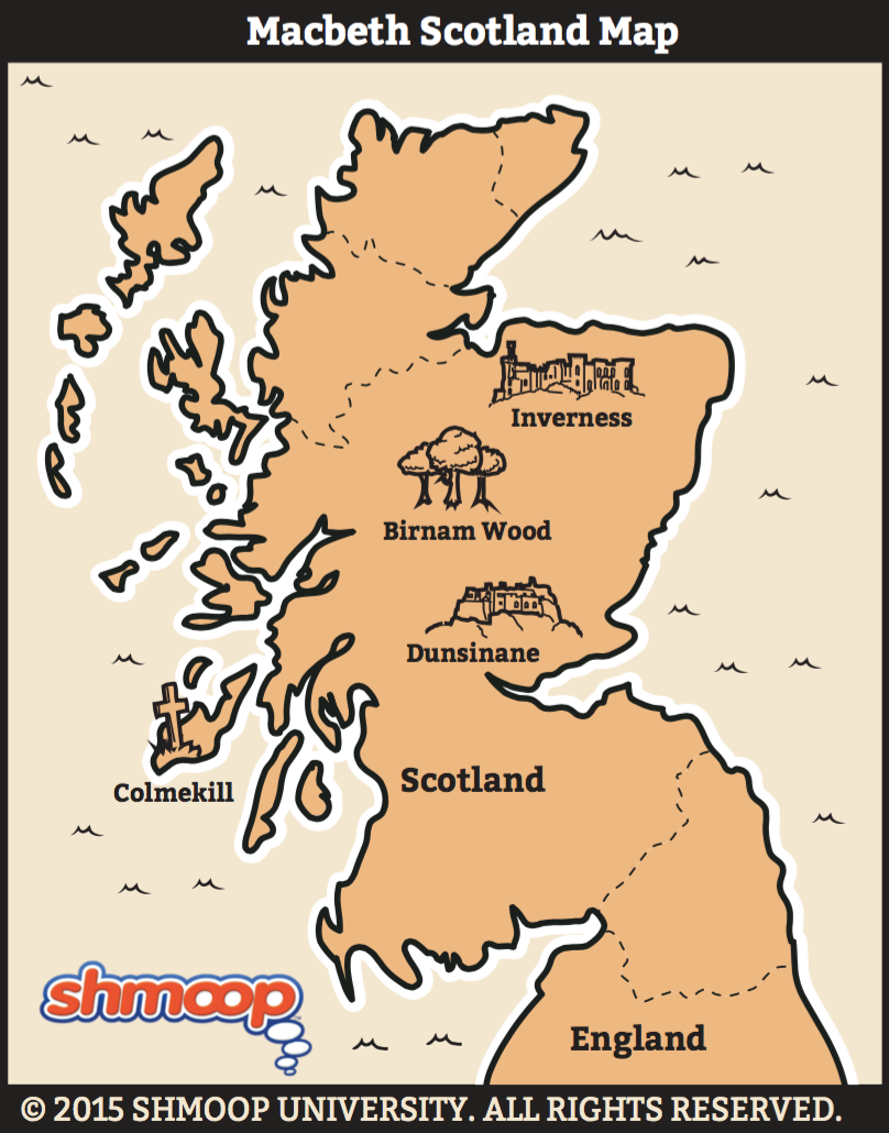 Macbeth Map Of Scotland Infographics Curriculum Mapping