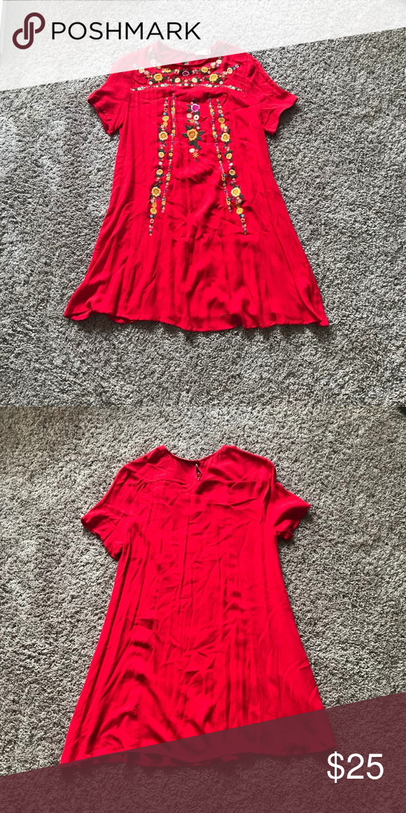 e7453a0eb4c Altar d State Red Dress Size M