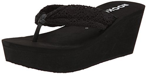 Rocket Dog Women's Dockcr Flip Flop, Black, 9 M US