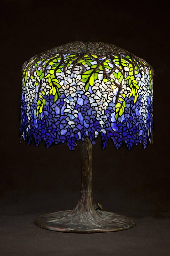 Stained glass lamp bespoke glass tiffany lamp tiffany home louis comfort tiffany wisteria table lamp handcrafted by wieniawa piasecki workshope witraze mozeypictures Image collections