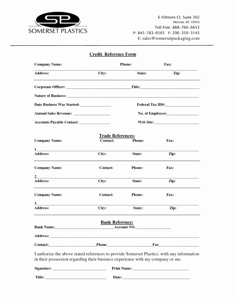Credit Reference Form Reference Letter Template Project Timeline Template Reference
