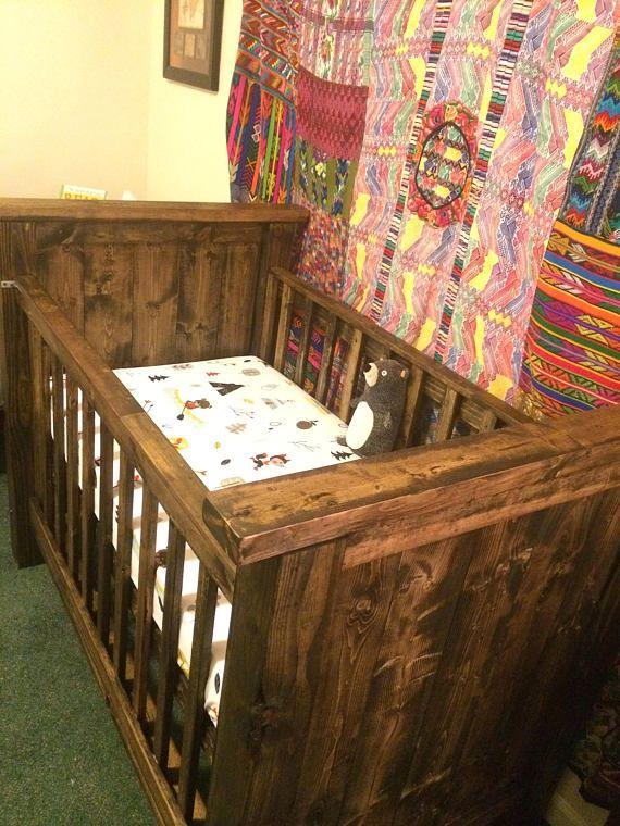 Farmhouse Style Baby Crib   Baby cribs, Farmhouse style ...