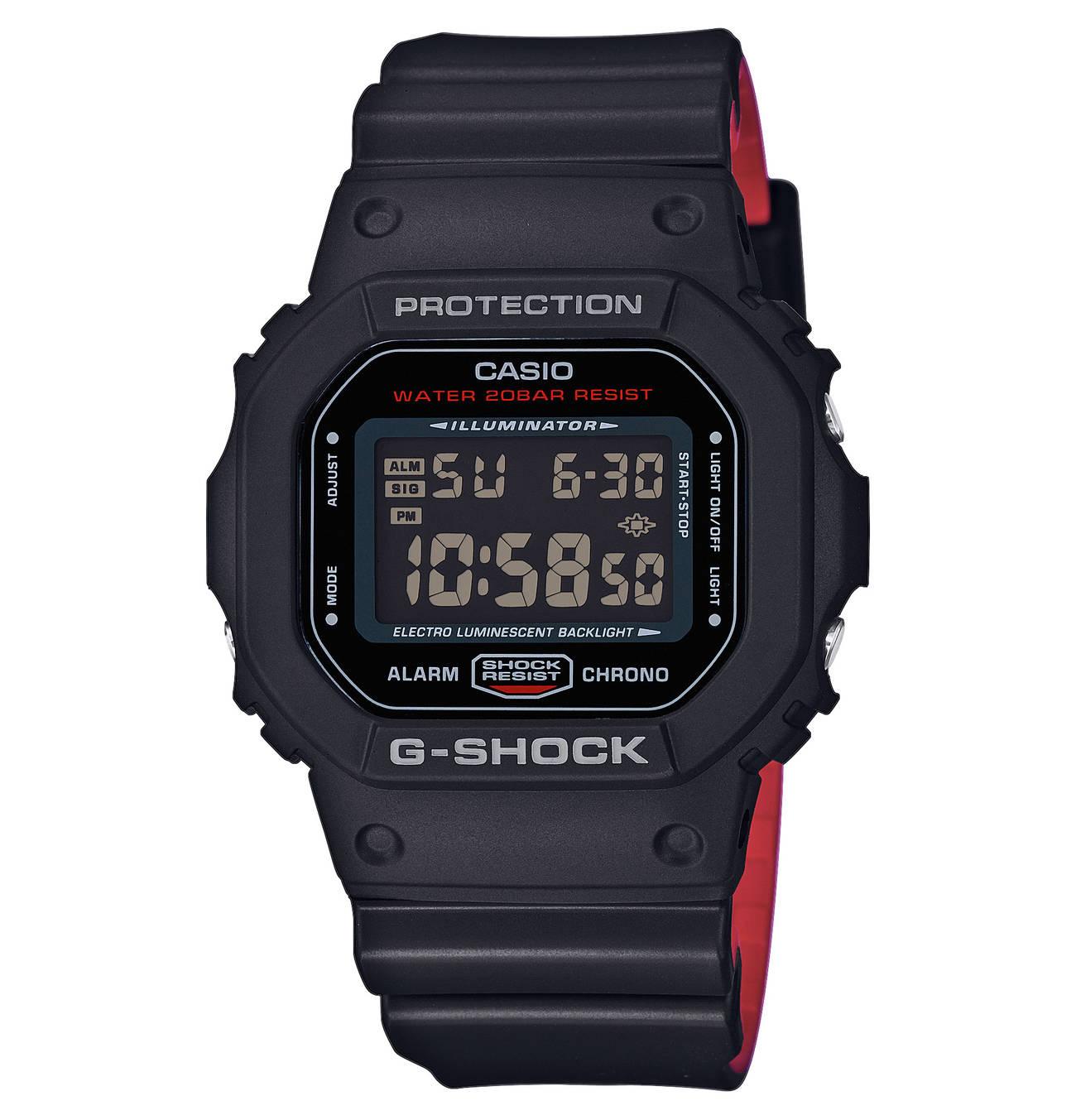 """Herrenuhr """"Original"""" DW5600HR1ER, Chronograph Casio"""