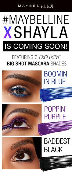 2bc840c4c45 Maybelline's first ever beauty influencer collaboration is here! We  collaborated with MakeupShayla to create an exclusive eye makeup collection!