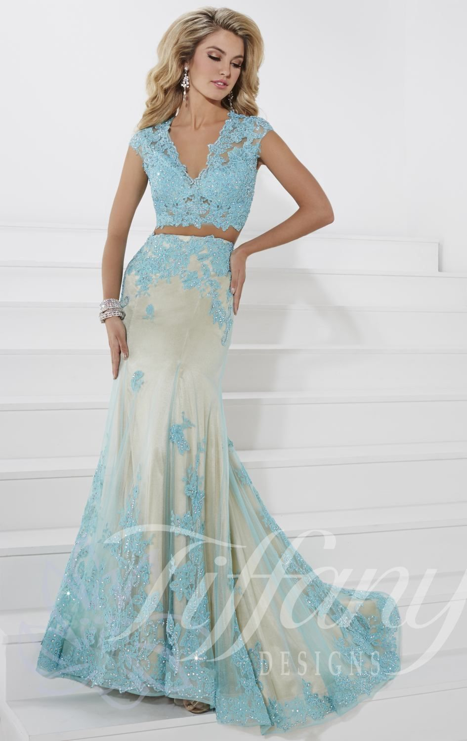Click to buy ucuc blue prom dress stones sequins special occasion