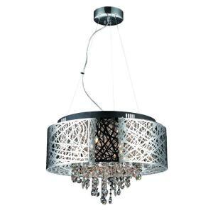 Hampton Bay Cristobal Collection Royal Mahogany 5 Light Chandelier