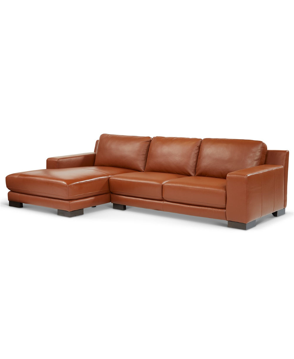 Best Furniture Darrium 2 Pc Leather Sofa With Chaise Created 400 x 300