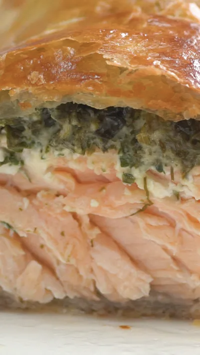 Herb Coated Salmon in Puff Pastry #frozenpuffpastry