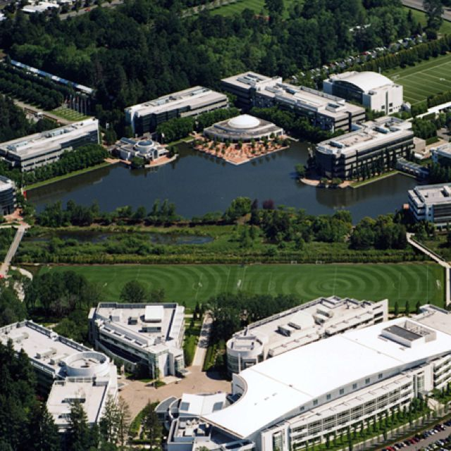 The amazing campus of Nike World Headquarters, located in Beaverton - a  suburb west of Portland, Oregon.
