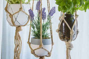 Want Plants In Your Home But Don't Know Where To Put Them? These DIY Macrame Plant Hangers Are The Perfect Solution