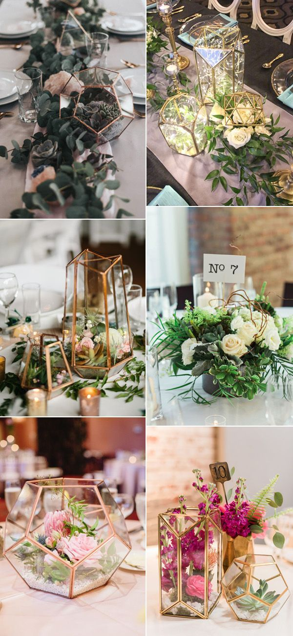 Industrial geometric wedding centerpiece ideas wedding flowers industrial geometric wedding centerpiece ideas junglespirit Image collections