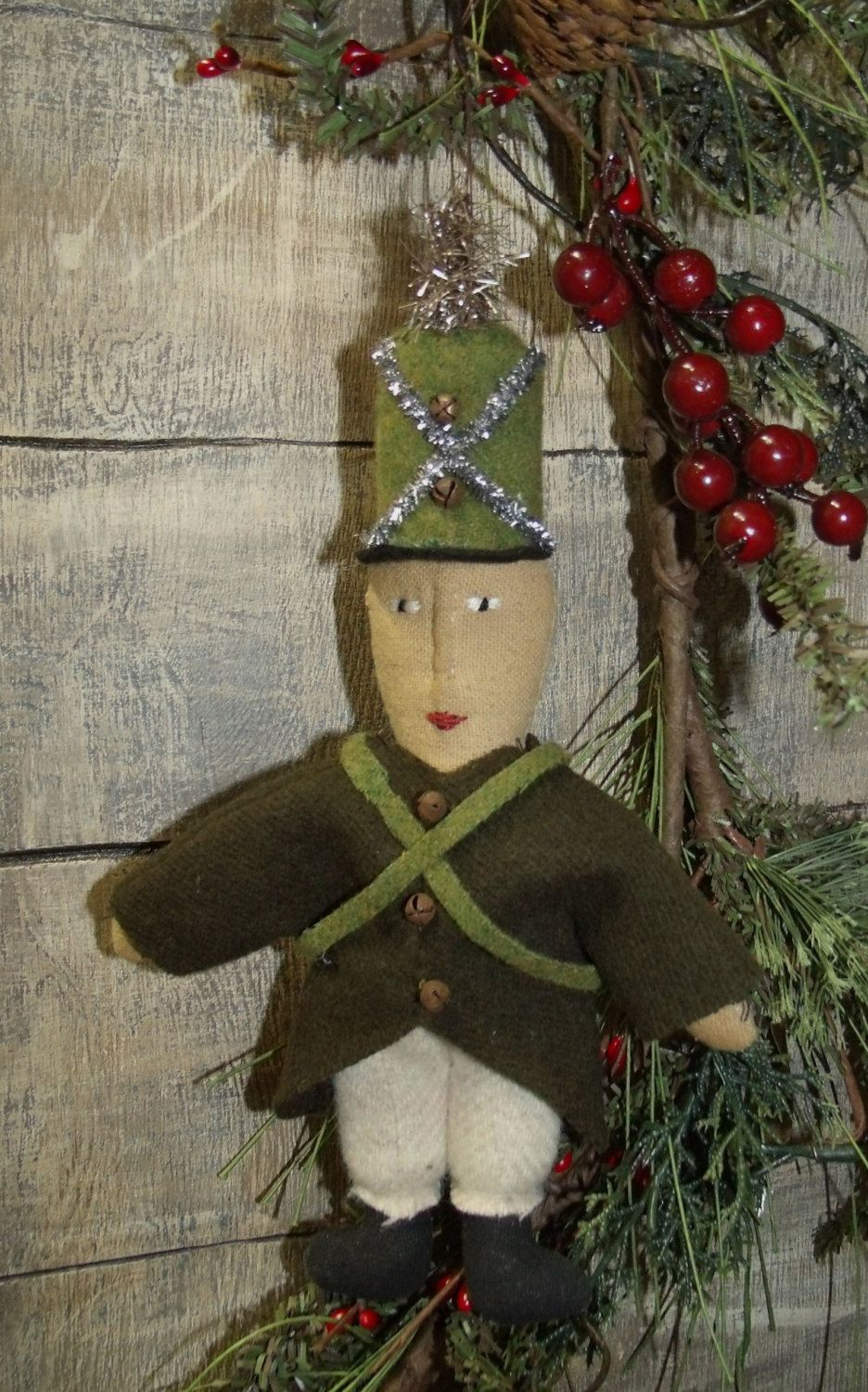 Vintage looking christmas ornaments - My Primitive Saltbox Vintage Style Ornies Soldier Boy Christmas Ornament Pattern Instant Download Collection