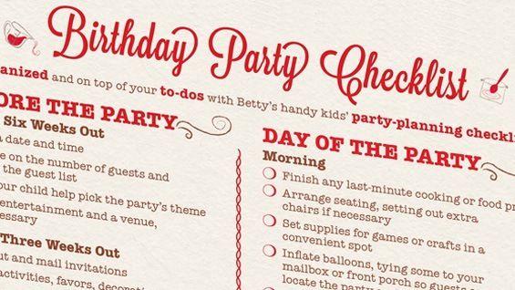 The 21st Birthday Party Checklist Birthday Party Checklist Party Checklist Birthday Party 21