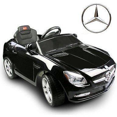 Black Mercedes Benz Slk R C Mp3 Kids Baby Ride On Car Battery