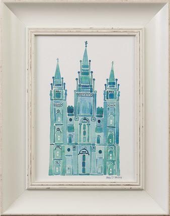 342707b24c8d Deseret Book Look to Eternity - Salt Lake Temple (11x14 Framed Art) Pink by  Angela Neidig