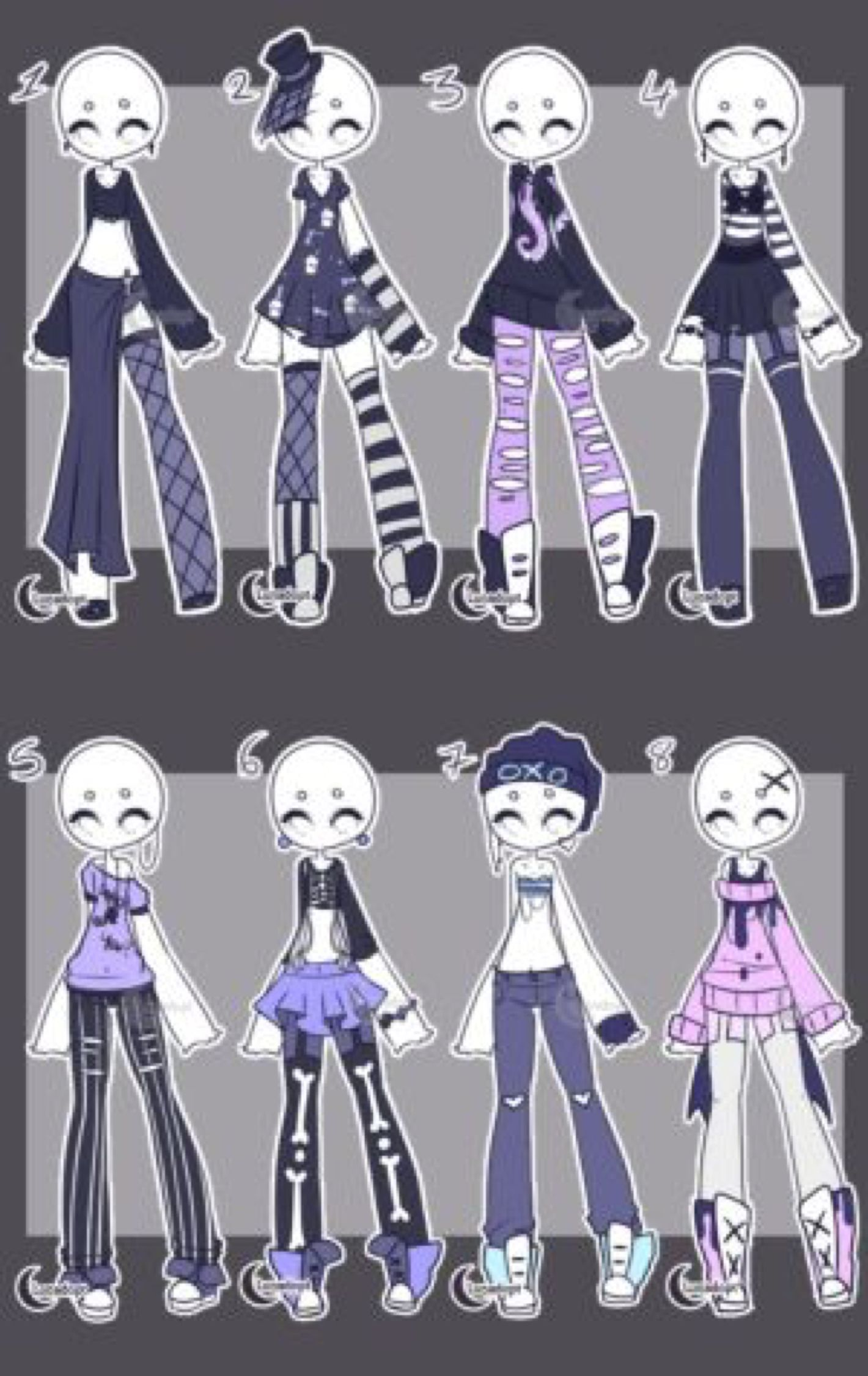 Adopts cute goth outfits closed by lunadopt on