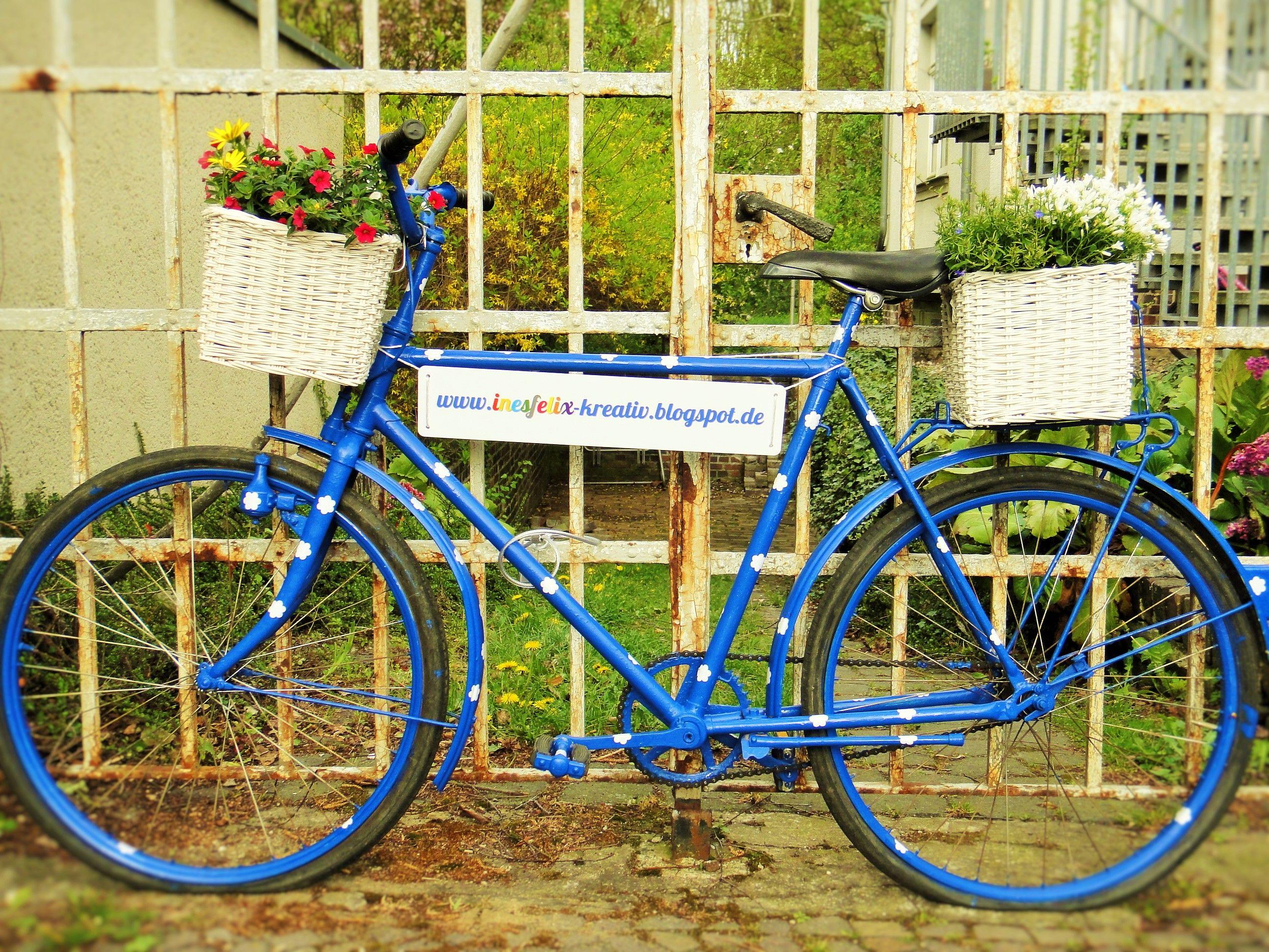 Fahrrad dekoration fahrrad recycling inesfelix fahrrad diy by ines felix - Dekoration fahrrad ...