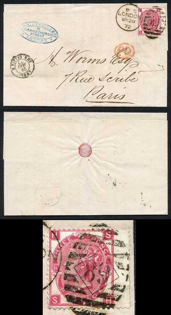3d Rose plate 8 on Cover to Paris / HipStamp