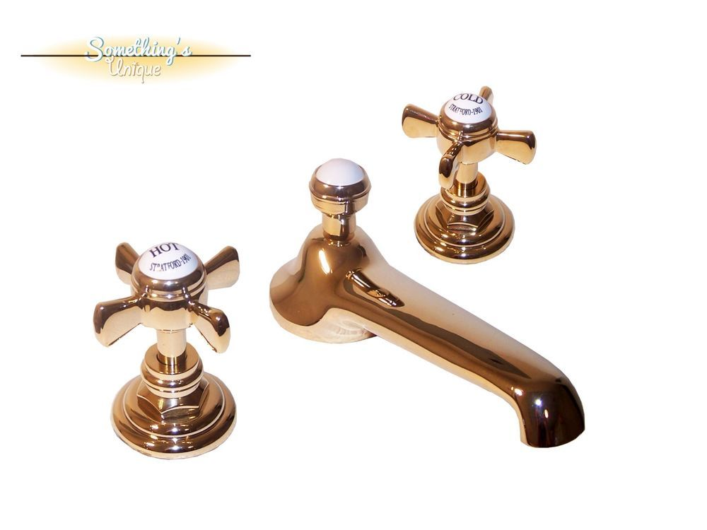 VINTAGE Style- Watermark Stratford 321 Lavatory Faucet Hot/Cold ...