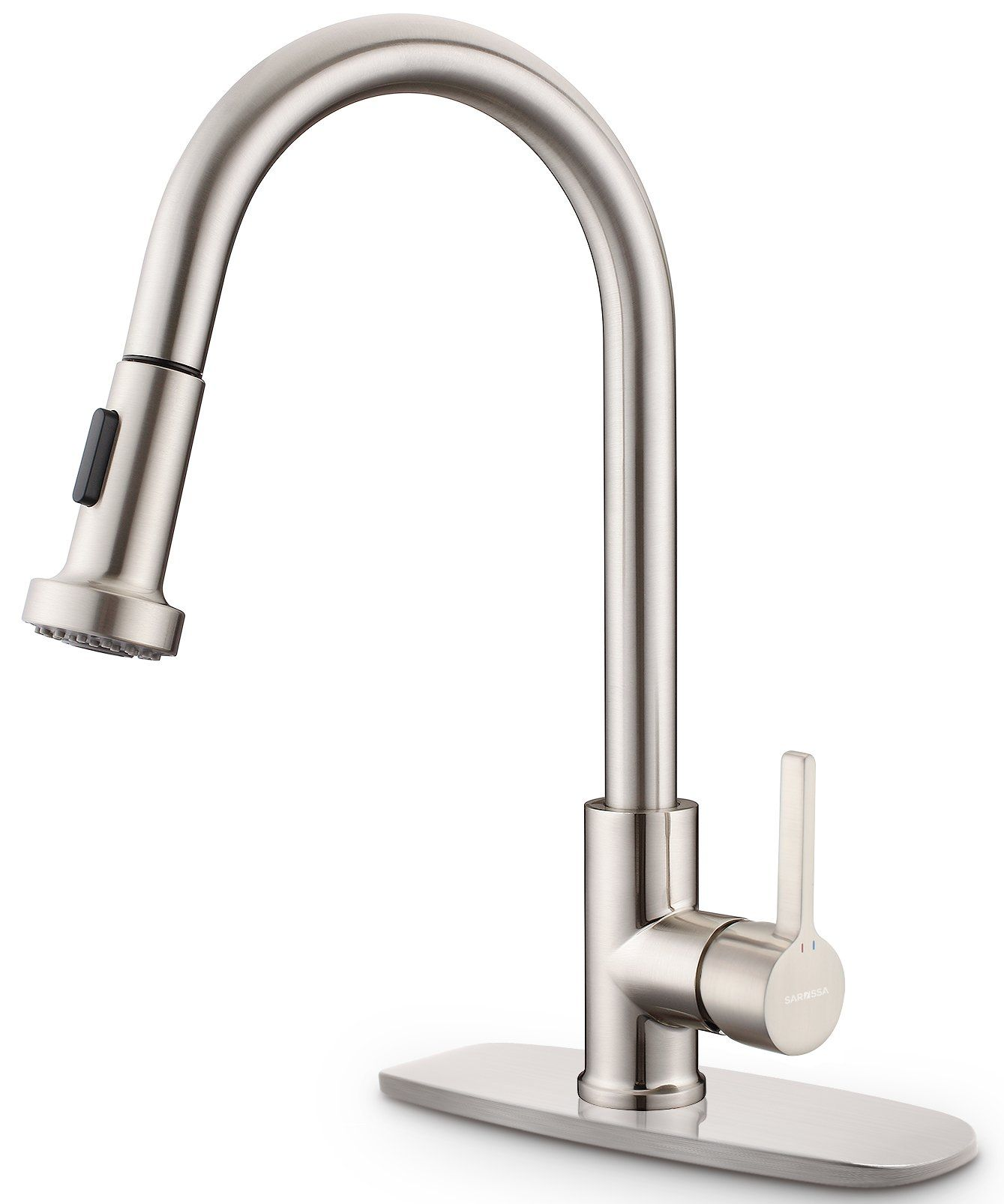 Kitchen Sink Faucet Sarissa Brushed Nickel Single Handle Pull Down