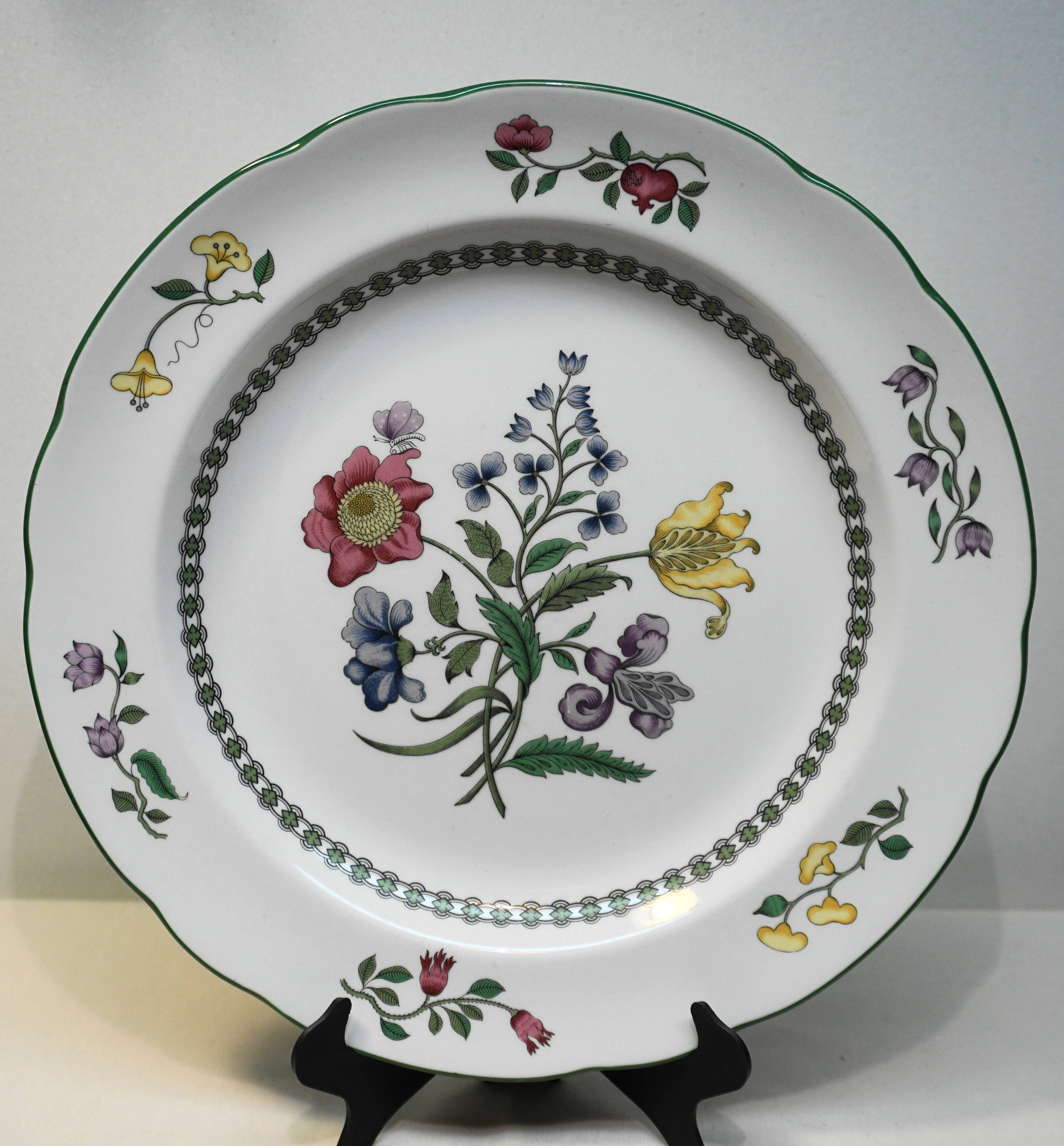 SPODE CHINA  Summer Palace  Dinner Plate 10 3/8  Pattern # : dinner plate patterns - pezcame.com