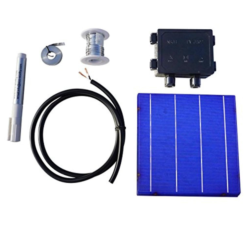 40pcs high power 6x6 solar cells kit 43wpcs w tab wire