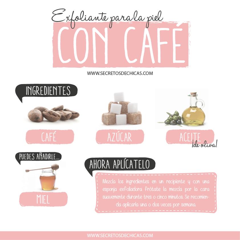 limpieza de piel con café