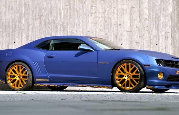 Hot Blue Chevy Camaro Wallpaper