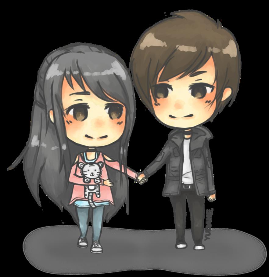 Happy valentine Cute couple by Pinlin on DeviantArt