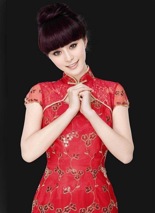 New hairstyle cheongsam dress