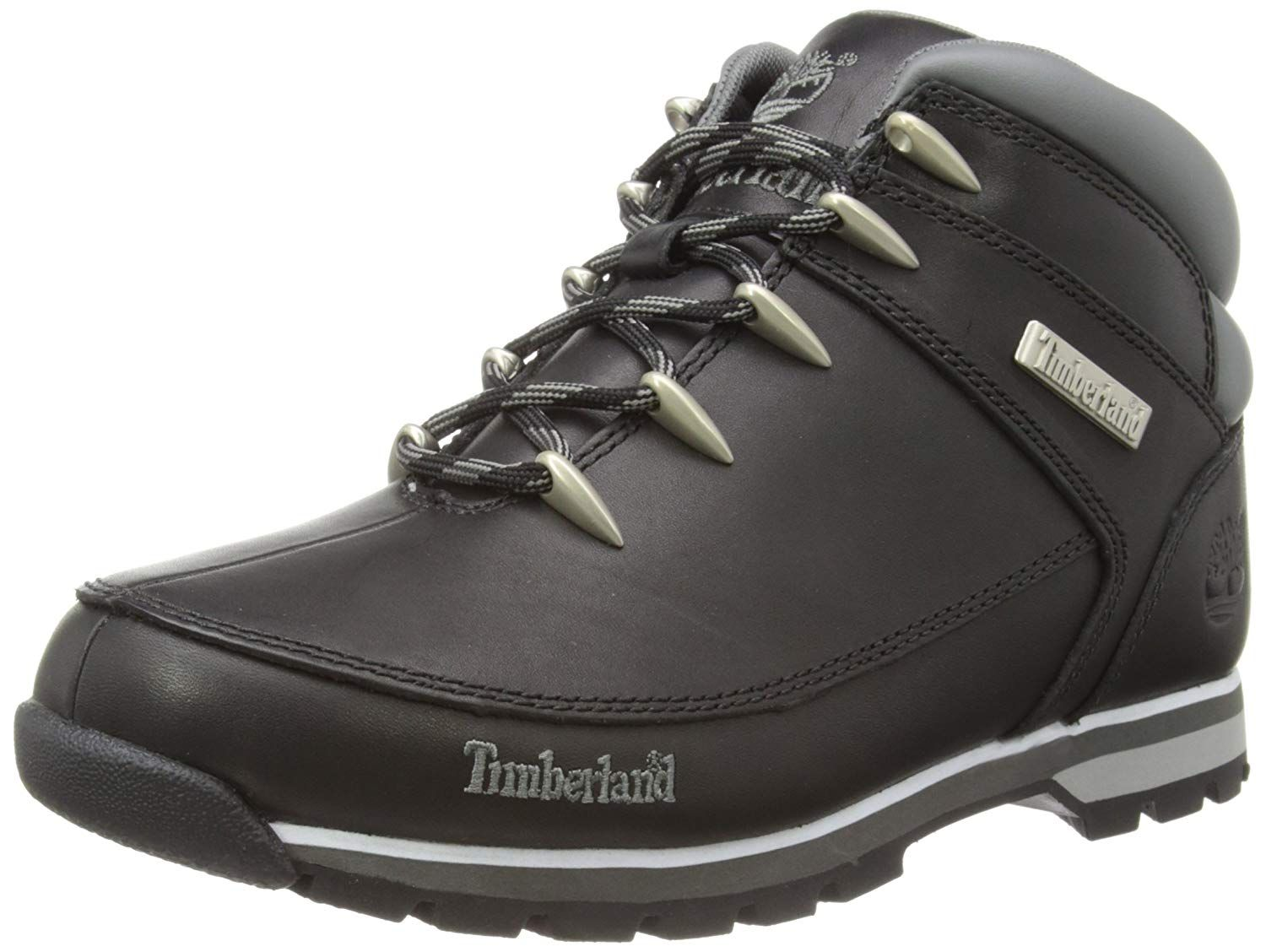Timberland Mens Euro Sprint Black Leather Boots 10.5 US