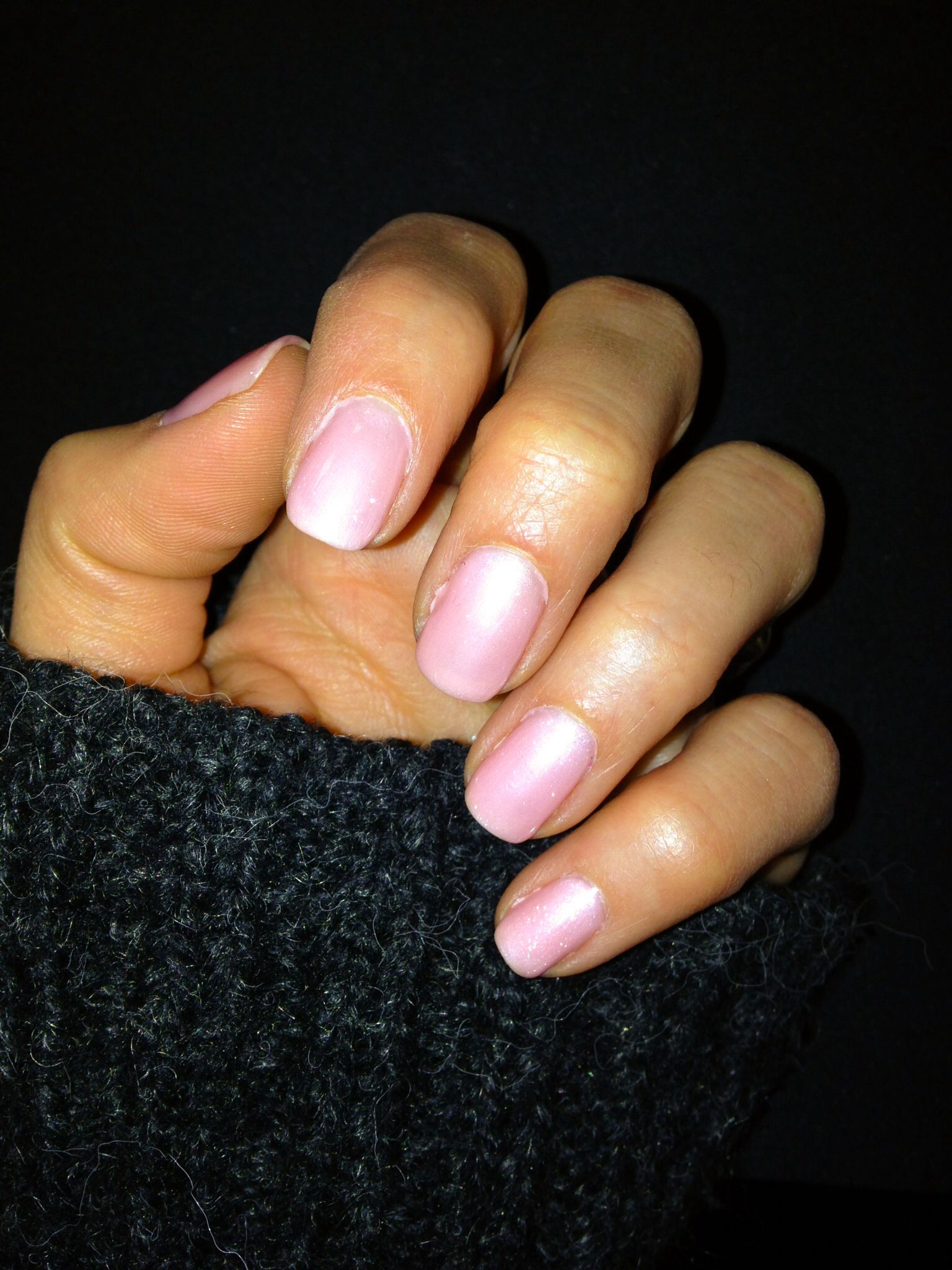 CND Shellac Strawberry Smoothie layered with Grapefruit Sparkle ...